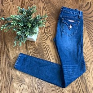 Hudson Girls Dark Wash Skinny Jeans